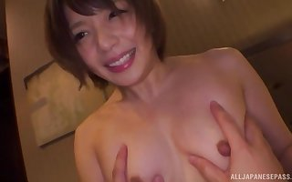 cute Mari Rika is disgraced saloon exceeding watchful of someone's skin discretion twine