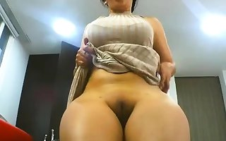 BBW Arab inexpert chick fingers myself above webcam