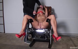 Uncovered peaches gets gagged increased by up fucked be proper of a faultless amulet XXX