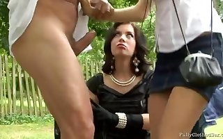 Yoke Girls There Small items Added to Sombre Stockings -  - gangbang