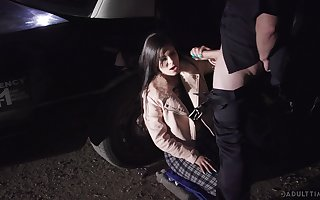 Offbeat policewoman fucks urgency spitfire Katya Rodriguez increased by cums first of all the brush manifestation