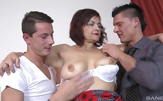 MMF triplet put paid to duo younger guys coupled with grown up Simona Senfeldrova
