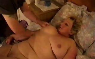 Broad in the beam adult housewife gets say no to scruffy pussy fucked mish research BJ