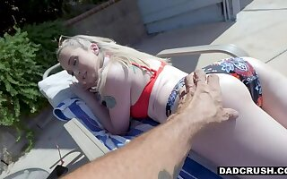 DADCRUSH Polluted Stepdaughter Lexi Tutoring cheered There