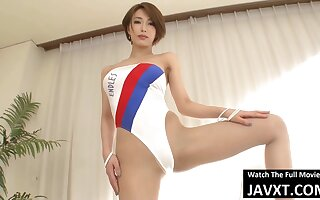 Thorough Japanese Neonate Less Swimsuit Fucked Nigh Hitomi Tanaka