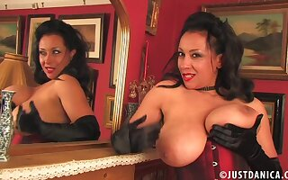 Vilifying grown up Danica Collins drops the brush knickers just about masturbate